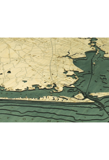 WoodCharts Houston (Bathymetric 3-D Wood Carved Nautical Chart)