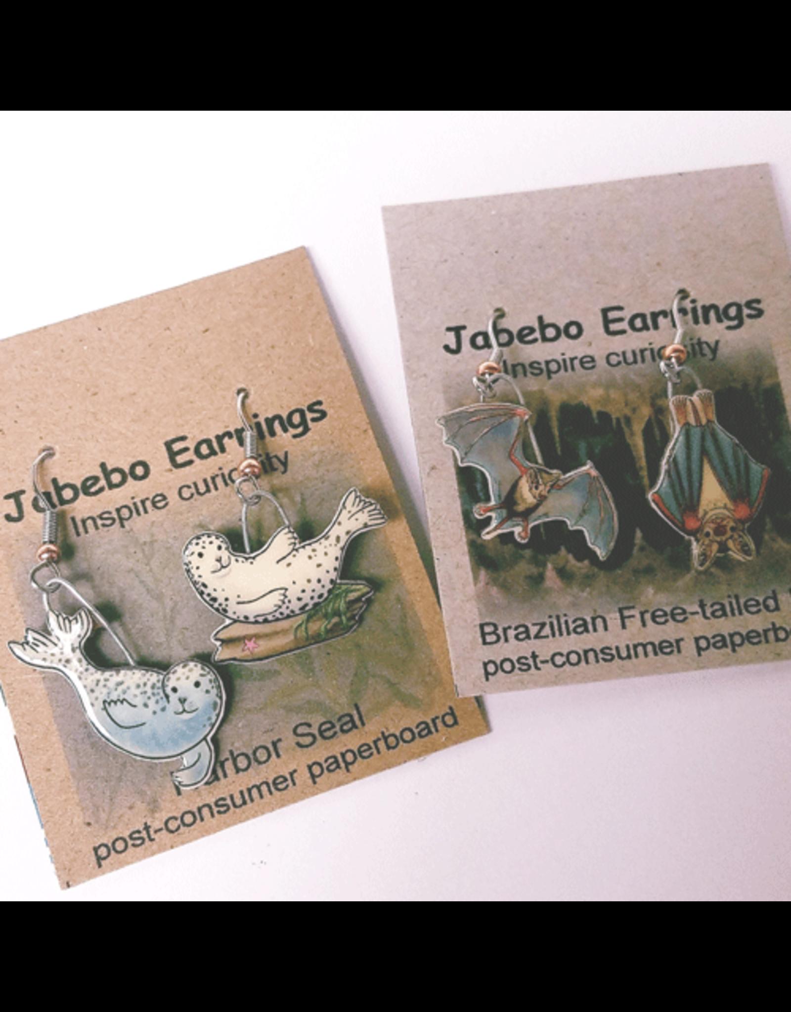 Jabebo Earrings PIGEON (WHITE-CROWNED)