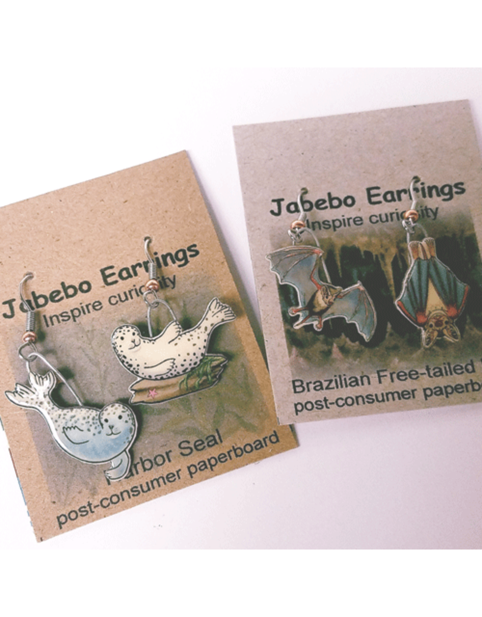 Jabebo Earrings HERON (GREAT BLUE)