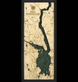 WoodCharts Great Sacandaga Lake (Bathymetric 3-D Nautical WOODCHART)