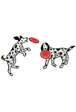 Jabebo Earrings DOG & FRISBEE