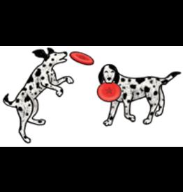 Jabebo Earrings DOG & FRISBEE (EARRINGS)