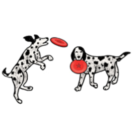 Jabebo Earrings DOG & FRISBEE (JABEBO)