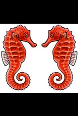 Jabebo Earrings SEA HORSE (RED)