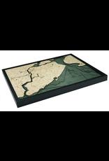 WoodCharts Staten Island (Bathymetric 3-D Nautical WOODCHART)