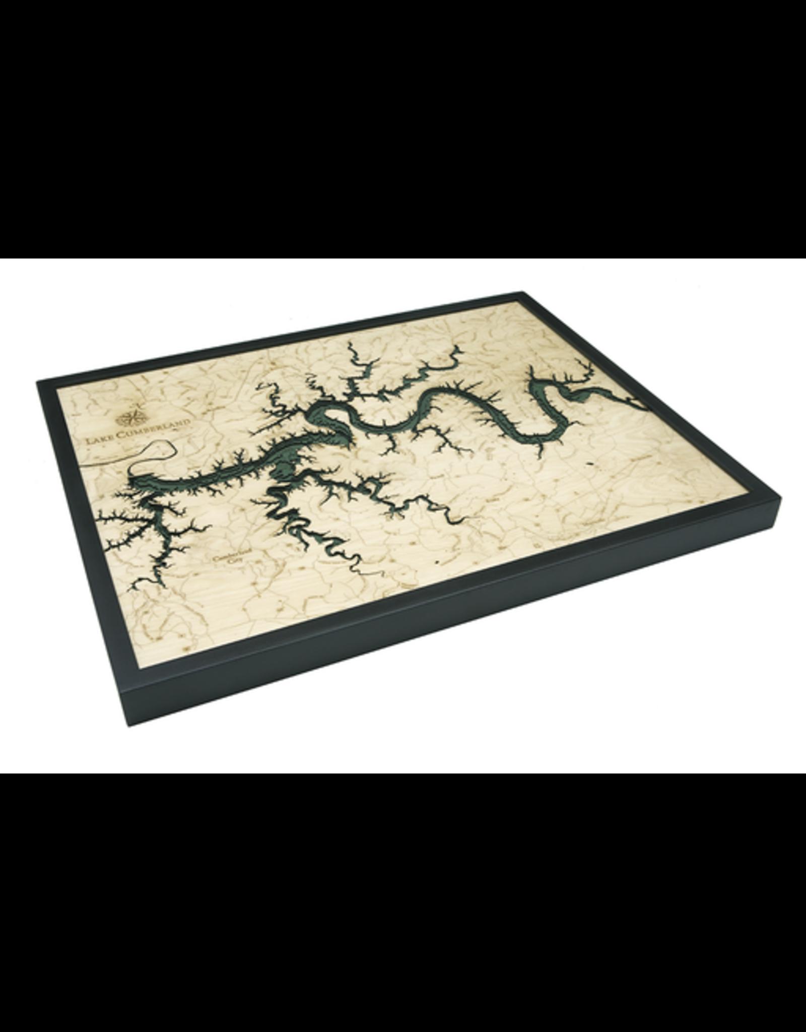 WoodCharts Lake Cumberland, KY (Bathymetric 3-D Wood Carved Nautical Chart)
