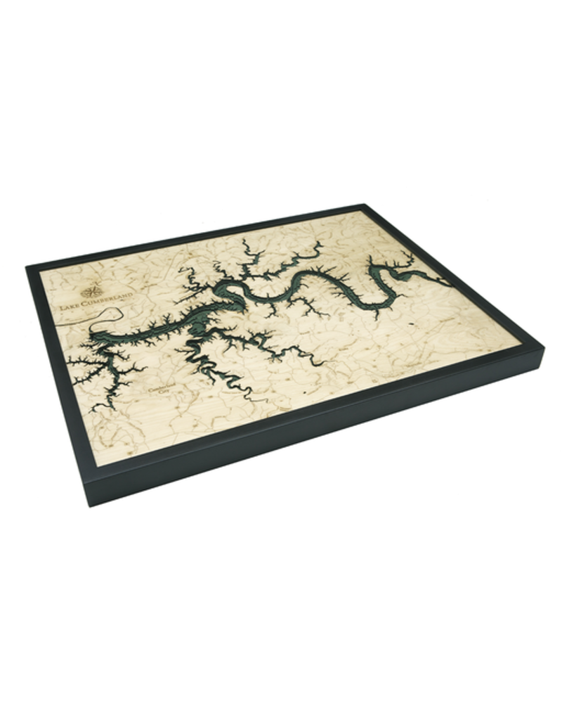 WoodCharts Lake Cumberland, KY (Bathymetric 3-D Wood Carved Nautical Chart)