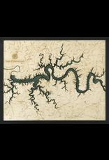 WoodCharts Lake Cumberland, KY (Bathymetric 3-D Nautical WOODCHART)
