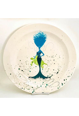 Sara Hunter Platter (BeBe Mermaid, Turtle, Aqua/Teal, XL, 16D. x 2.5H, SARH)