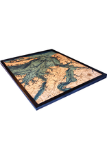 WoodCharts Norfolk  (Bathymetric 3-D Nautical WOODCHART)