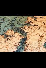 WoodCharts Norfolk (Bathymetric 3-D Wood Carved Nautical Chart)