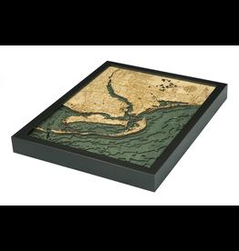 WoodCharts Ft. Myers (Bathymetric 3-D Nautical WOODCHART)