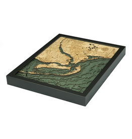 WoodCharts Ft. Myers (Bathymetric 3-D Wood Carved Nautical Chart)
