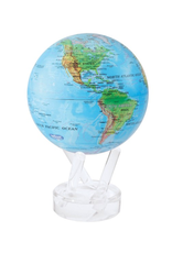 "Mova Globes RELIEF MAP BLUE (MOVA Globe 4.5"" w/Acrylic Base)"