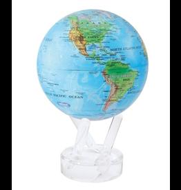 "Mova Globes RELIEF MAP BLUE (MOVA Globe 4.5"" w/Acrylic Base)"