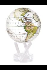 "Mova Globes ANTIQUE TERRESTRIAL WHITE (MOVA Globe 4.5"" w/Acrylic Base)"