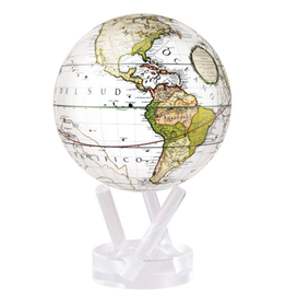 "Mova Globes ANTIQUE TERRESTRIAL WHITE (4.5""D.)"