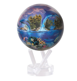 "Mova Globes SEA LIFE by ROBIN KONI (w/Acrylic Base, 4.5""D.)"