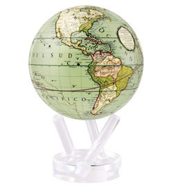 "Mova Globes ANTIQUE TERRESTRIAL GREEN (MOVA Globe 6"" w/Acrylic Base)"