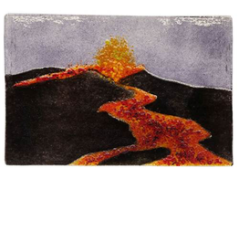 "Woven Time LAVA FLOW/VOLCANO (4""x6"" Suncatcher)"