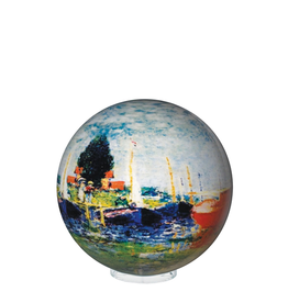 """Mova Globes RED BOATS by MONET (w/Acrylic Base, 4""""D.)"""