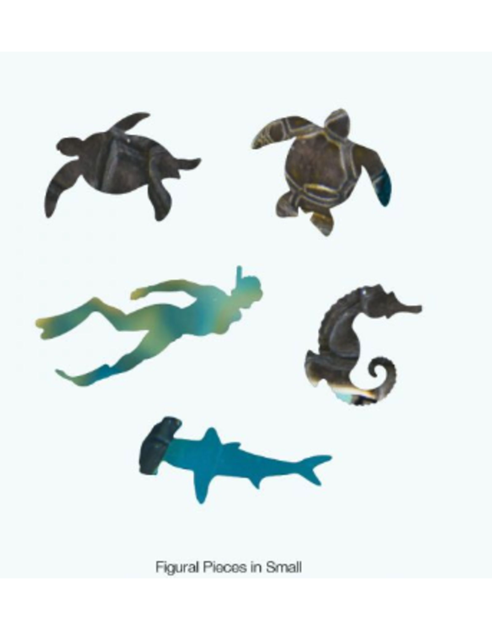 Zen Art & Design Mosaic Sea Turtle (Sm, 126 Pieces, Artisanal Wooden Jigsaw Puzzle)