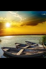 Zen Art & Design River Sunset (Teaser, 50 Pieces, Artisanal Wooden Jigsaw Puzzle)