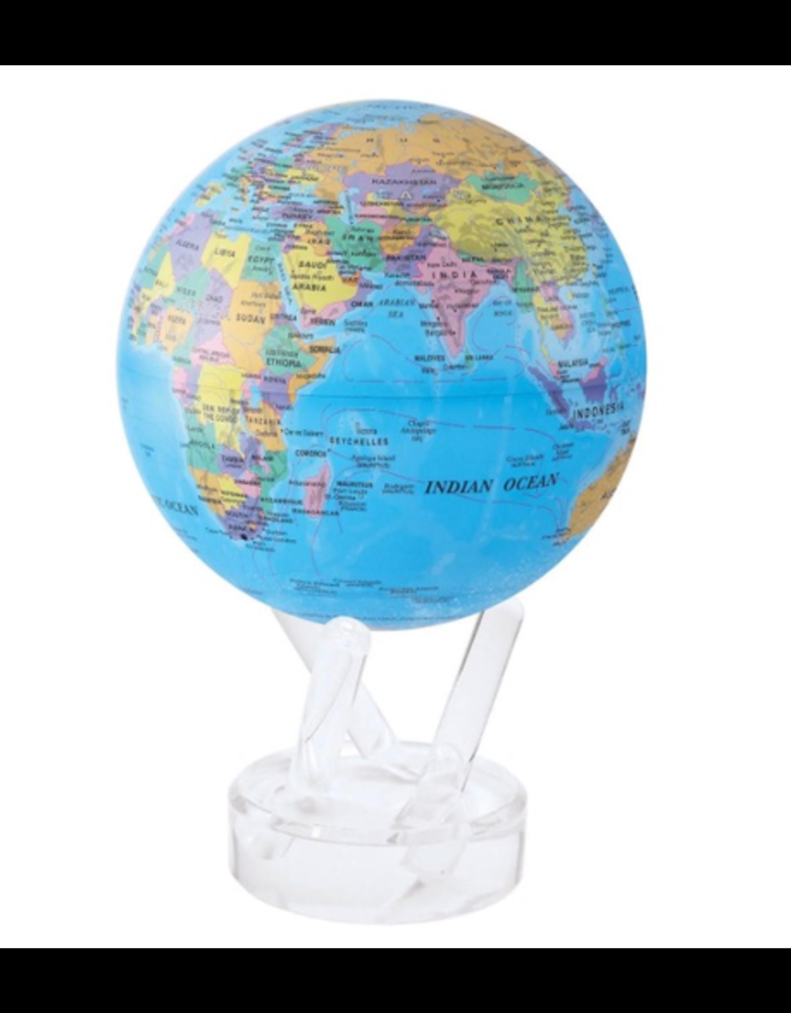 "Mova Globes POLITICAL MAP BLUE (MOVA Globe 6"" w/Acrylic Base)"
