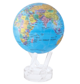 "Mova Globes POLITICAL MAP BLUE (4.5""D.)"