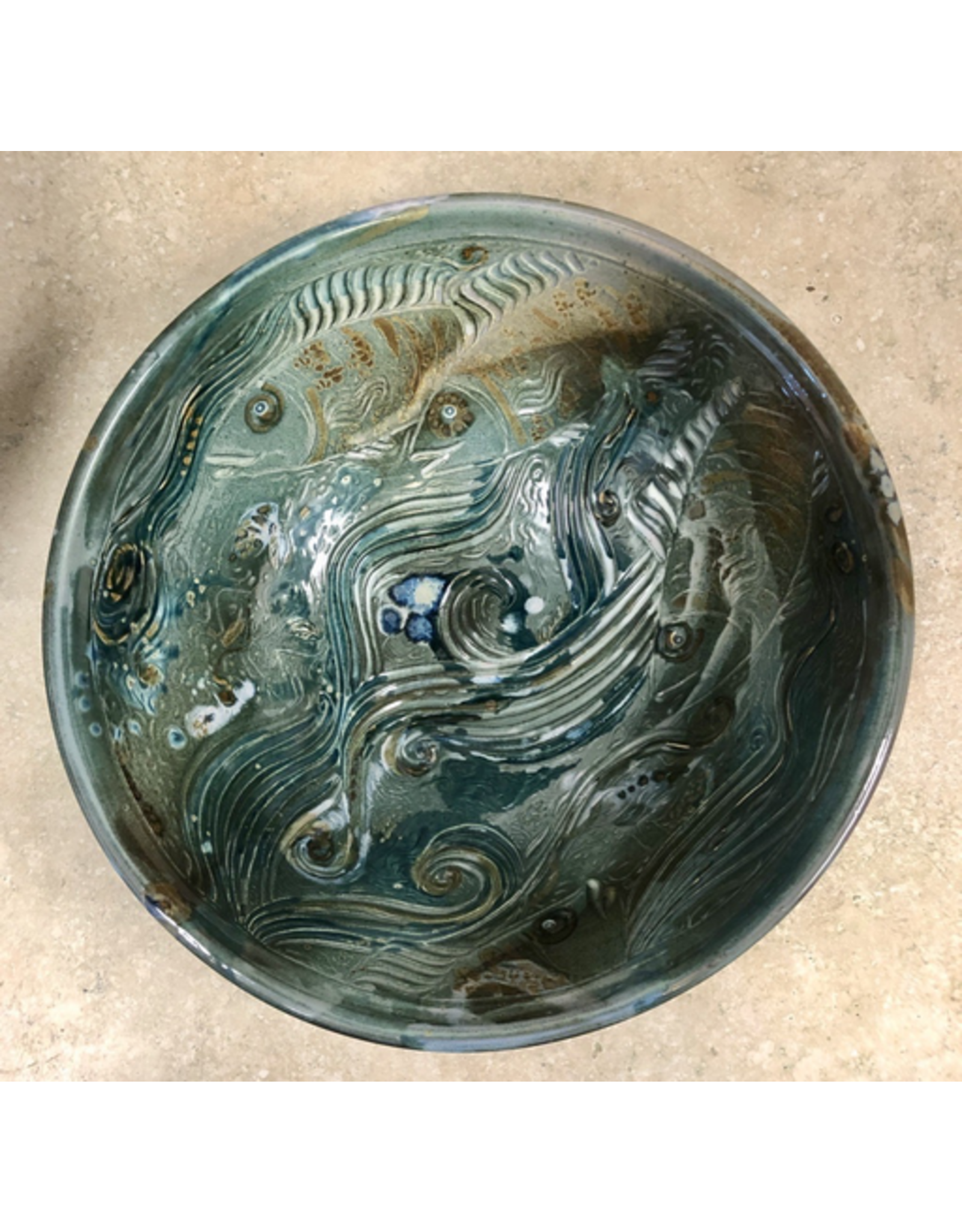 Gail Snively BOWL (Carved, Lg, #441, GAIS)