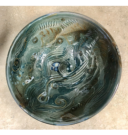 Gail Snively BOWL (Carved, Lg, #441)