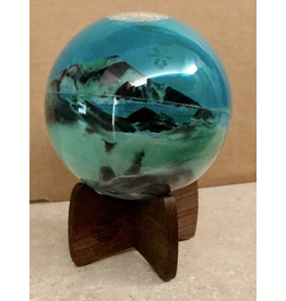 "Exotic Sands PLANET SAND (6""D. Globe, 5""SQ. Base)"