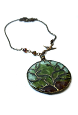 Spirit Glassworks TREE CHAIN NECKLACE (Recycled Glass Bottles, MELW)