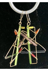 Barbie Levy BARB-WIRE EARRINGS (Gold Filled)