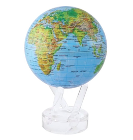 "Mova Globes RELIEF MAP BLUE GLOSS (4.5""D.)"