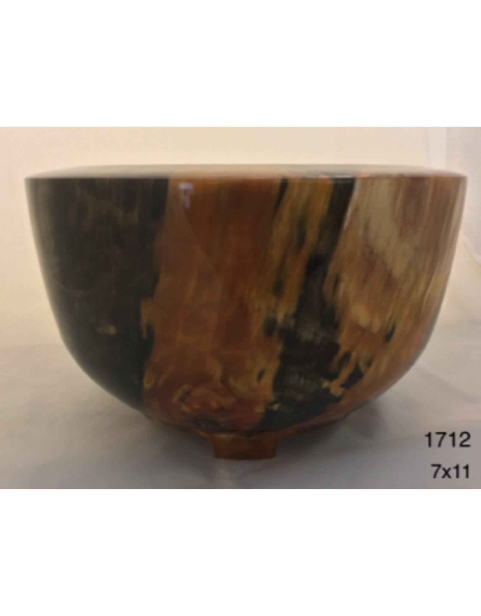 Joe Montagnino BOWL (w/Feet, Norfolk Island Pine, #1712)