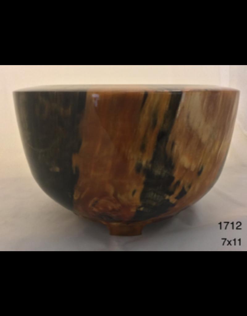 Joe Montagnino BOWL (w/Feet, Norfolk Island Pine, #1712)