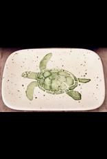 Sara Hunter Soap Dish (Sea Turtle, Green, 6L x 4W)