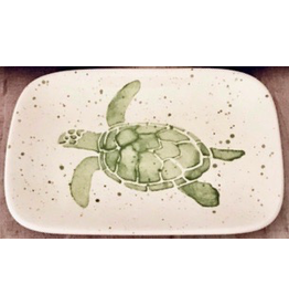 Sara Hunter Soap Dish (Sea Turtle, Green, 6L x 4W)