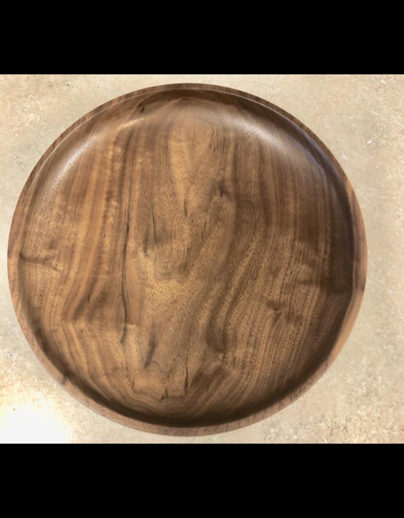 David L. Jones Serving Tray (Black Walnut, 10.5D. x 2.5H)