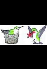 Jabebo Earrings HUMMINGBIRDS (w/NEST)
