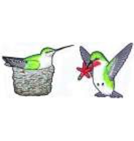 Jabebo Earrings HUMMINGBIRDS (w/NEST, EARRINGS)