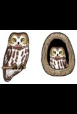 Jabebo Earrings OWL (SAW-WHET)