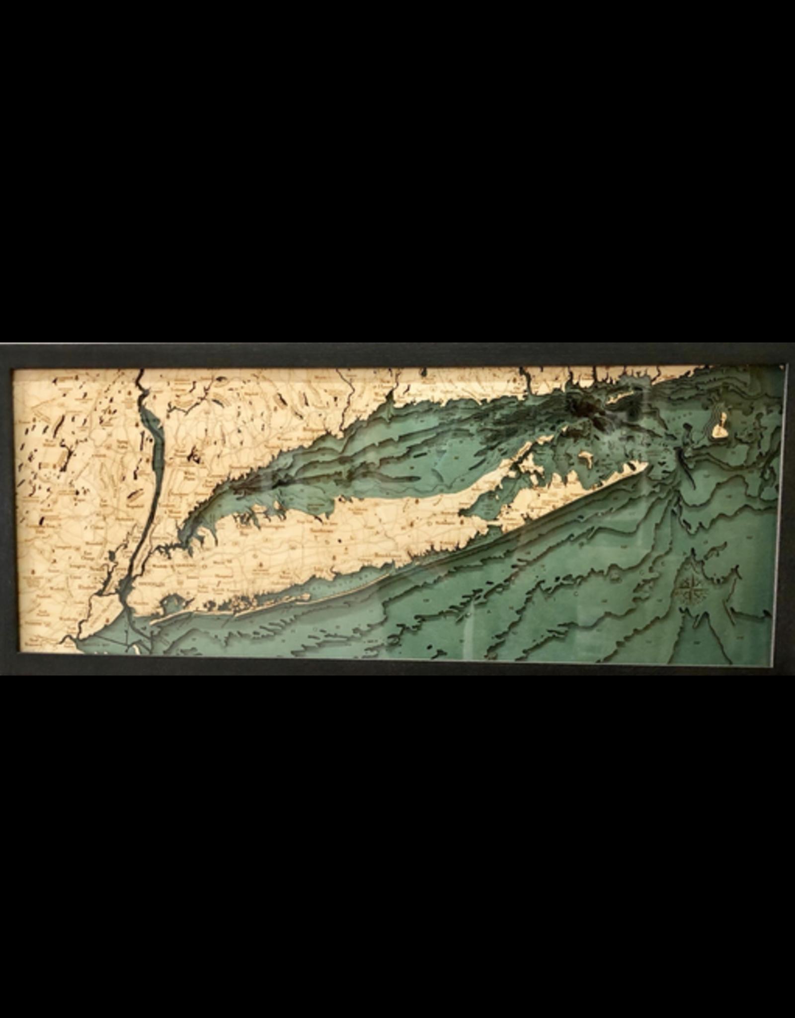 WoodCharts Long Island Sound (ALL, Bathymetric 3-D Nautical WOODCHART)