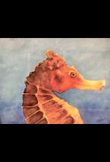 "Guy LeFebvre Seahorse (Giclee on Aluminum, 11x14"")"