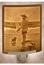 Porcelain Garden AT THE SEASHORE (Lithophane Nightlight)