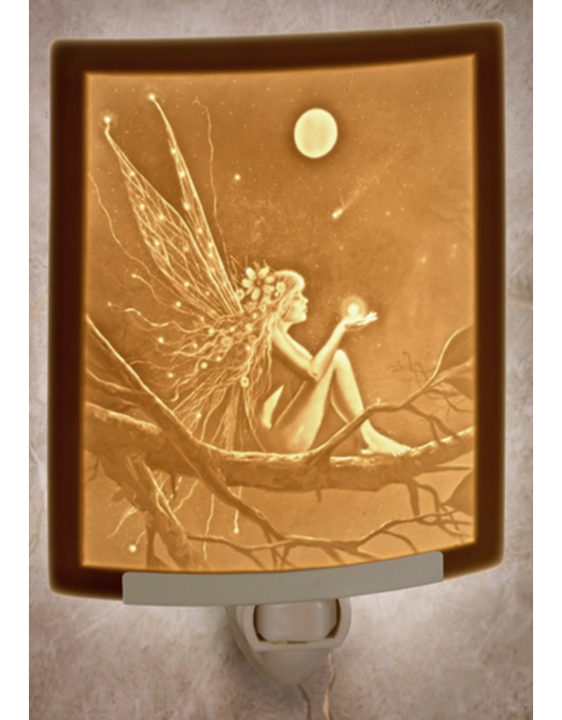 Porcelain Garden CATCH A FALLING STAR (Lithophane Nightlight)