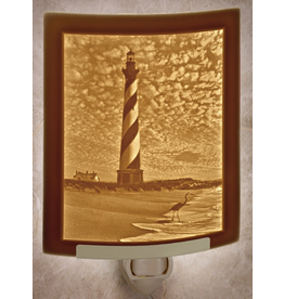 Porcelain Garden HATTERAS LIGHTHOUSE (Lithophane Nightlight)