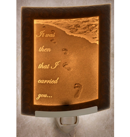 Porcelain Garden FOOTPRINTS (Lithophane Nightlight)