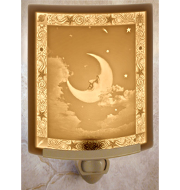 Porcelain Garden MAN IN THE MOON (Lithophane Nightlight)